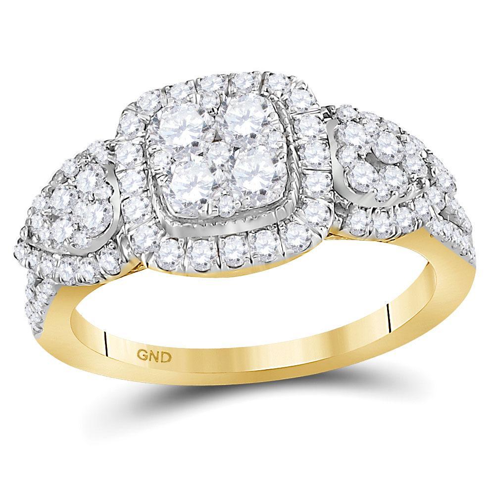 10K Yellow Gold Ring 1.24ctw Diamond