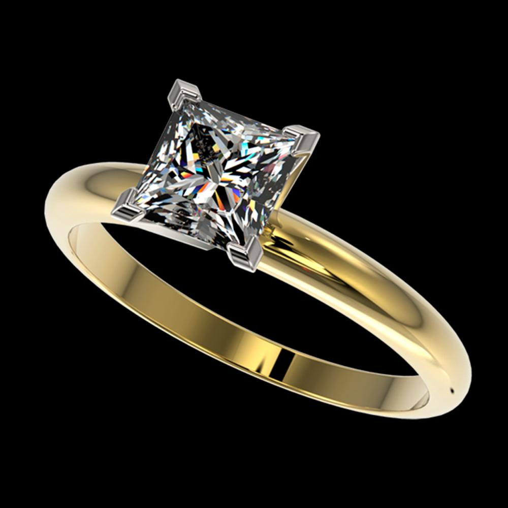 1.25 ctw Princess Diamond Ring 10K Yellow Gold