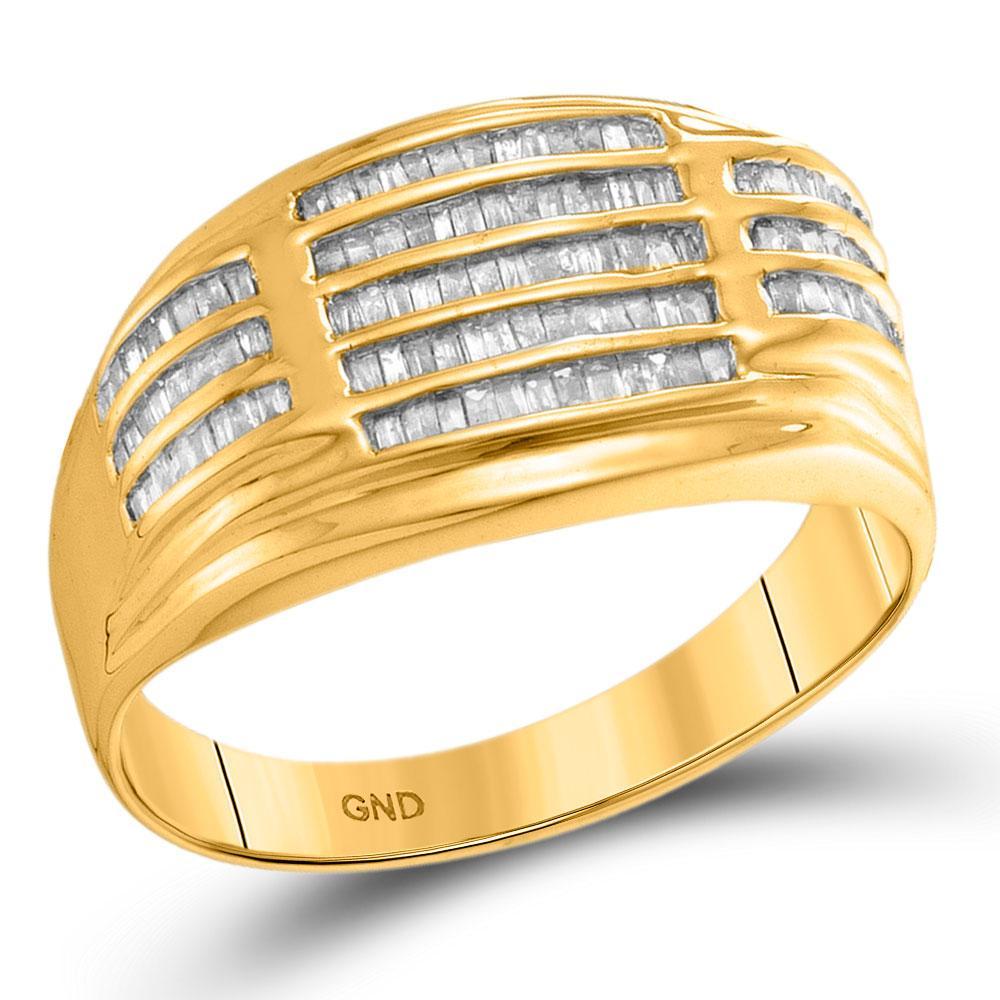10K Yellow Gold Ring Cluster 0.53ctw Diamond