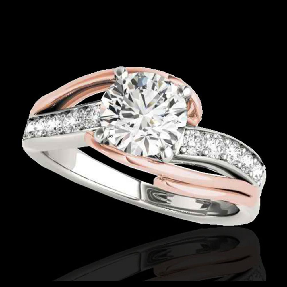 1.50 ctw H-SI/I Diamond Bypass Solitaire Ring 10K White & Rose Gold