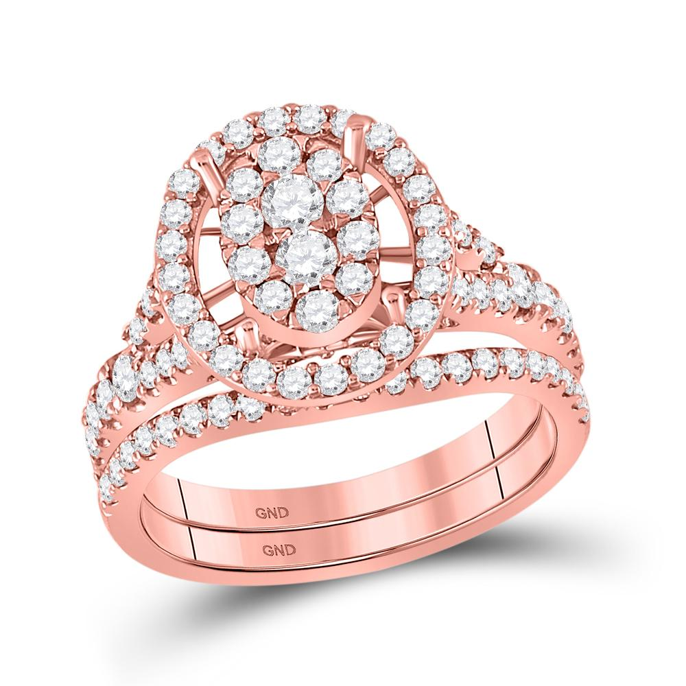 14K Rose Gold Ring 1.15ctw Diamond