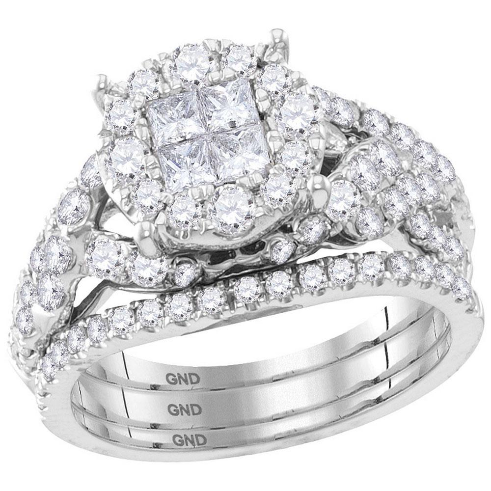14K White Gold Ring 2ctw Diamond
