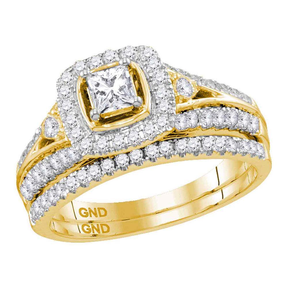 14K Yellow Gold Ring 0.98ctw Diamond