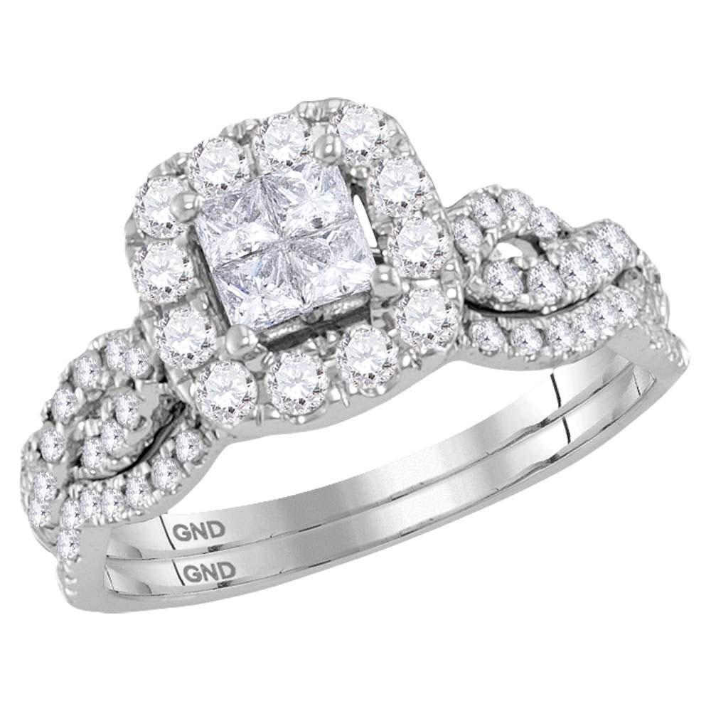 10K White Gold Ring 1.01ctw Diamond
