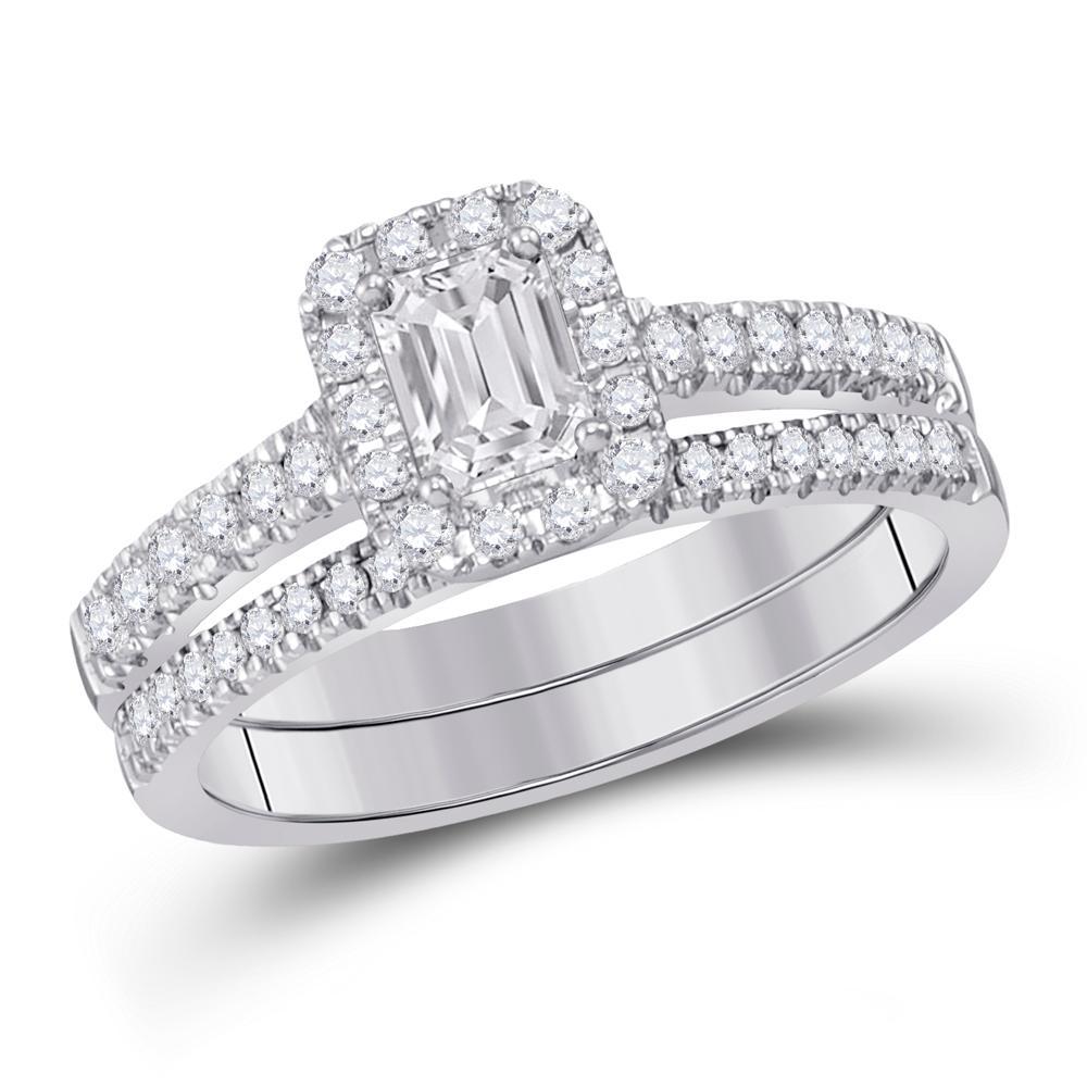14K White Gold Ring 1.03ctw Diamond