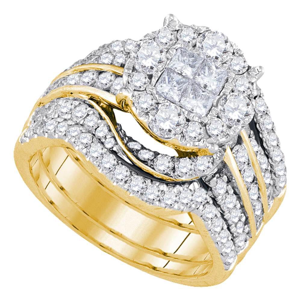 14K Yellow Gold Ring 2.51ctw Diamond