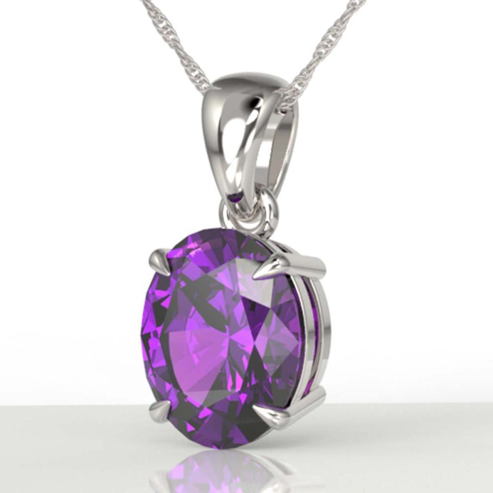 2.5 ctw Amethyst Necklace 18K White Gold