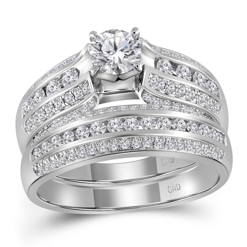 14K White Gold Ring 1.25ctw Diamond