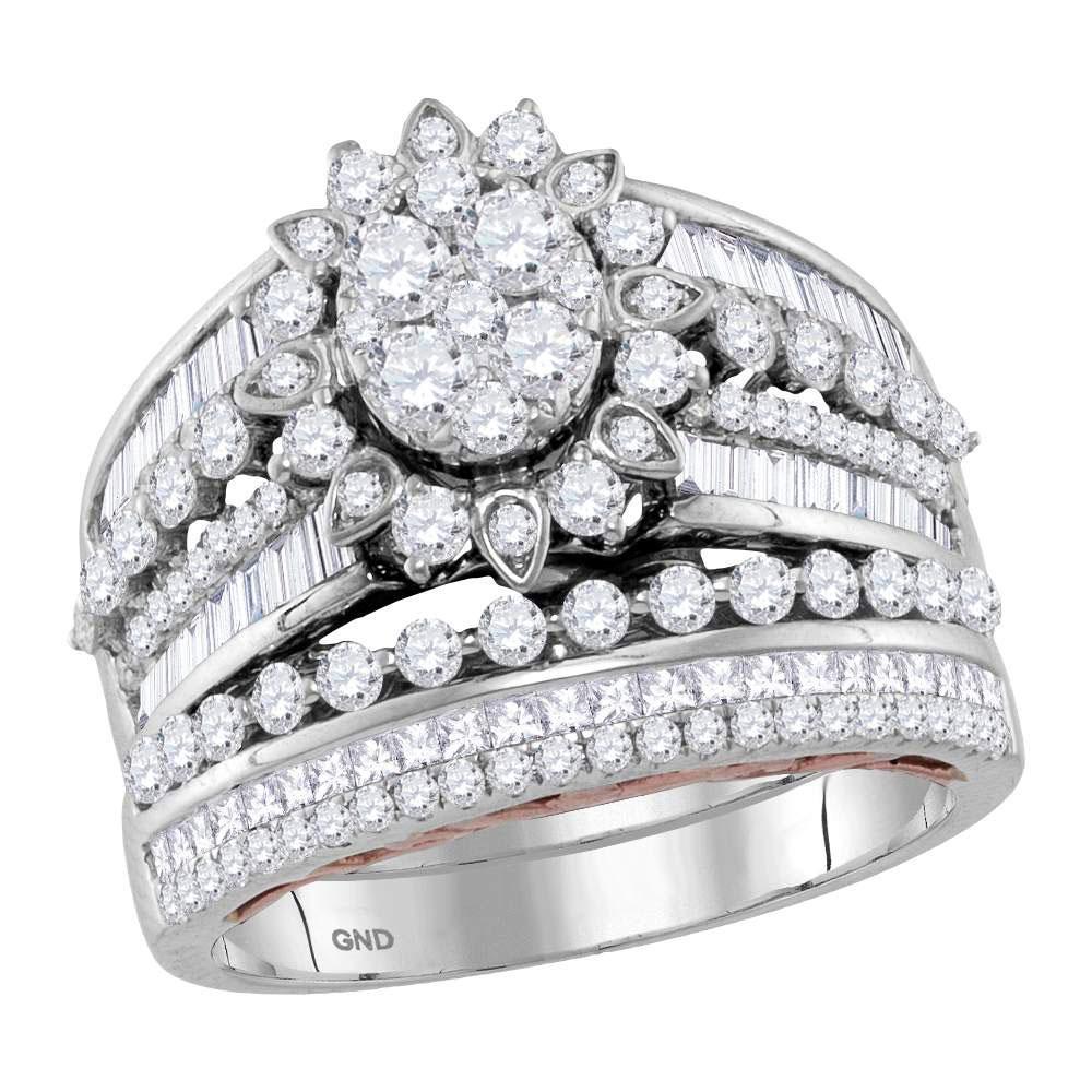 14K 2-tone Gold Ring 1.99ctw Diamond