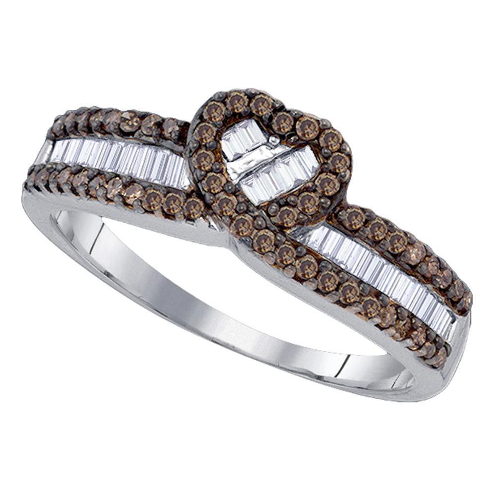 Sterling Silver Ring 1.13ctw Brown Diamond, Diamond,