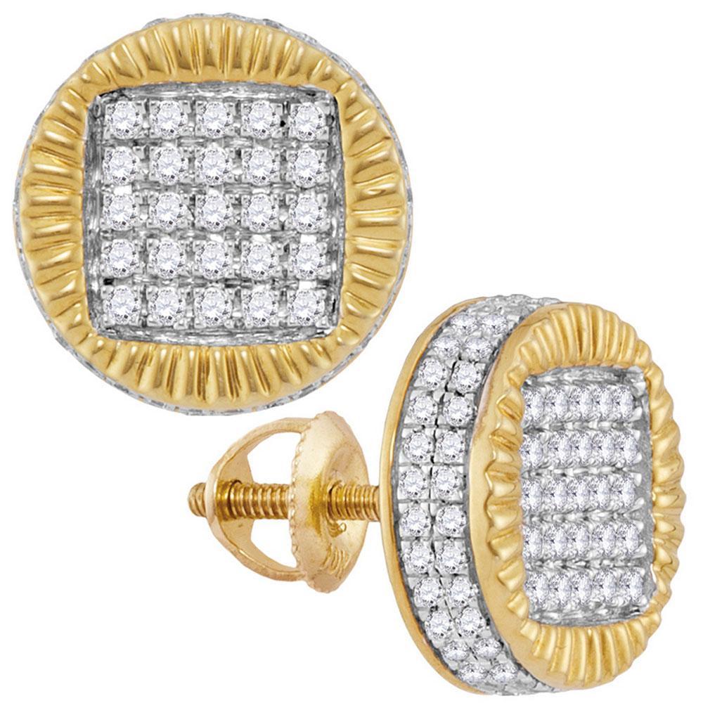 10K Yellow Gold Earrings 0.8ctw Diamond