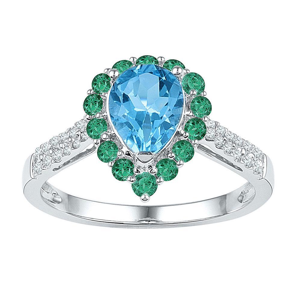 10K White Gold Ring 1.52ctw Diamond