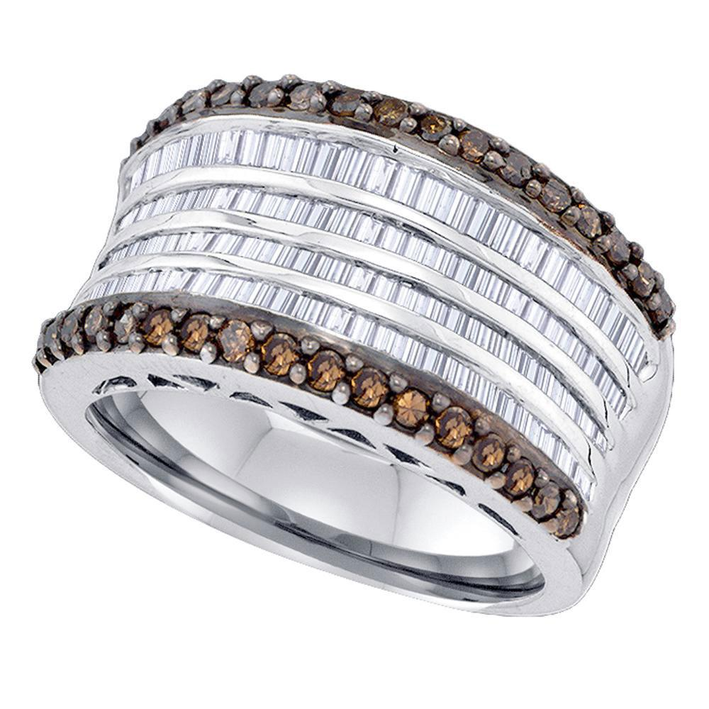 Sterling Silver Ring 1.64ctw Brown Diamond, Diamond,