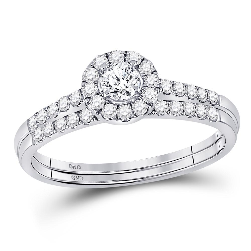 10K White Gold Ring 0.52ctw Diamond