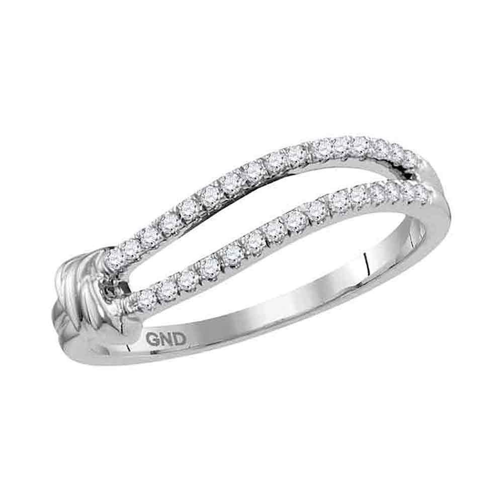 10K White Gold Ring 0.16ctw Diamond