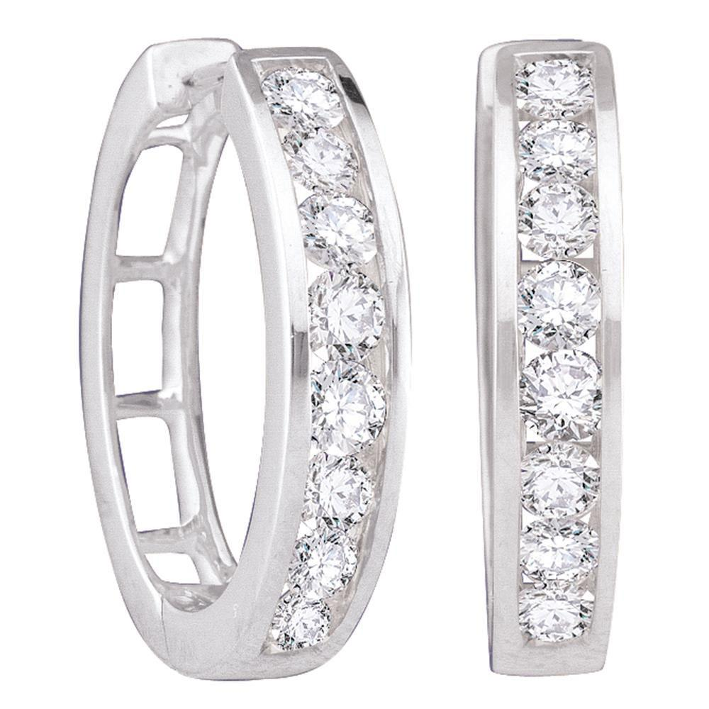 14K White Gold Earrings 0.95ctw Diamond
