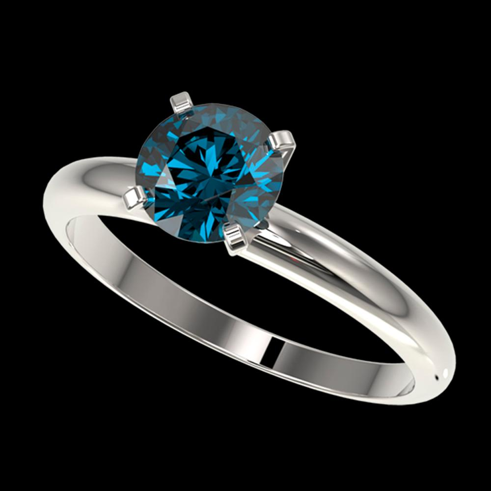 1.26 ctw Intense Blue Diamond Ring 10K White Gold