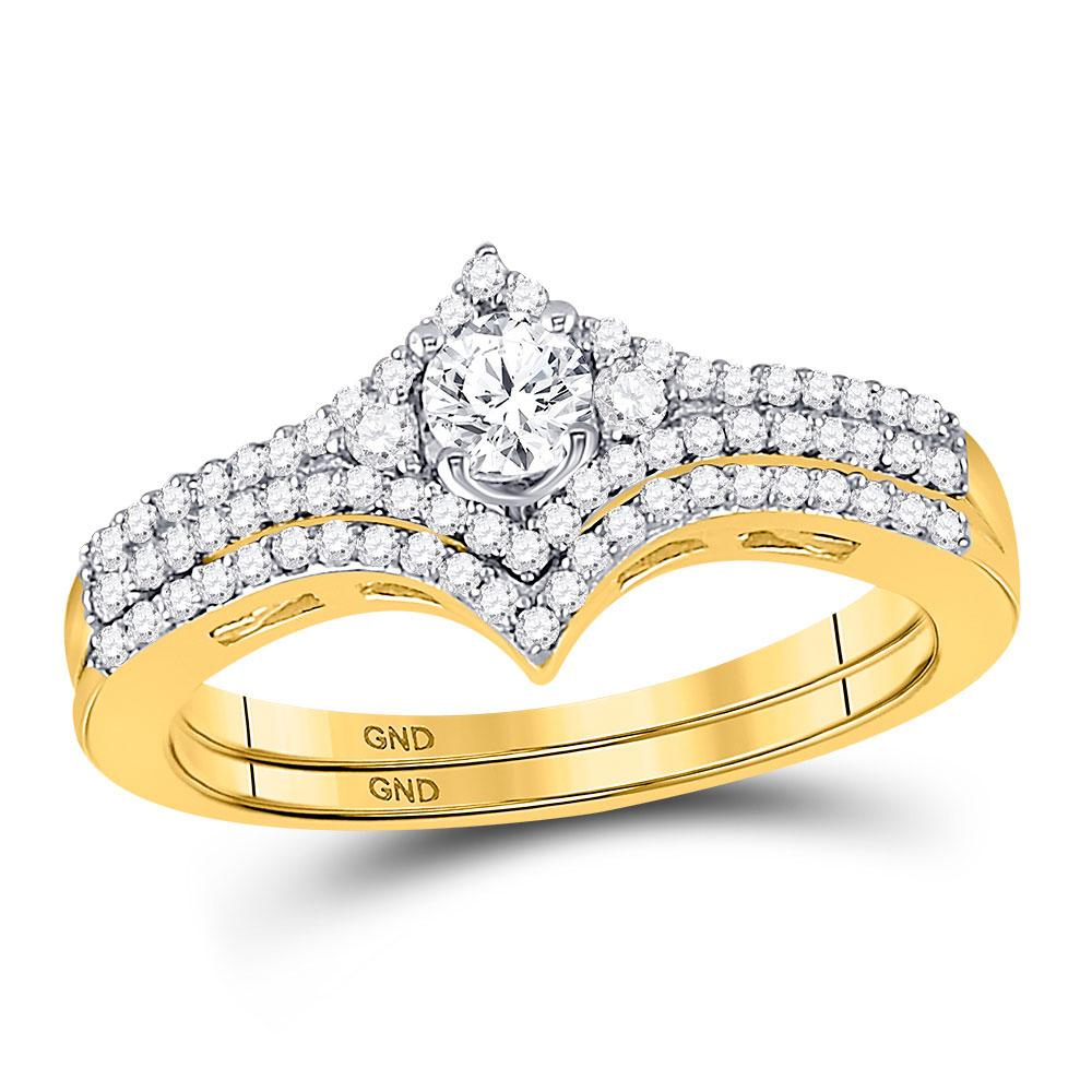14K Yellow Gold Ring 0.5ctw Diamond