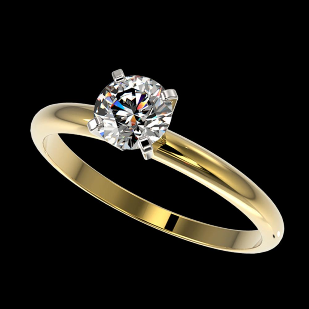0.77 ctw H-SI/I Diamond Ring 10K Yellow Gold
