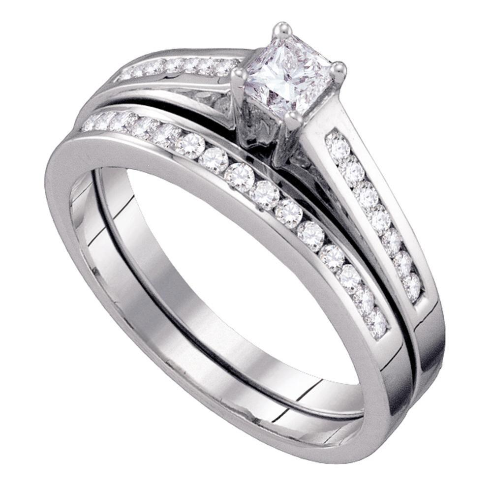 10K White Gold Ring 0.49ctw Diamond