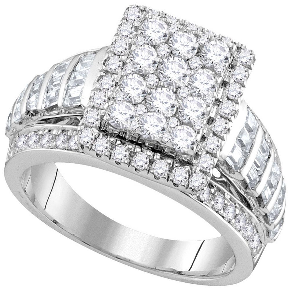 10K White Gold Ring 1.98ctw Diamond