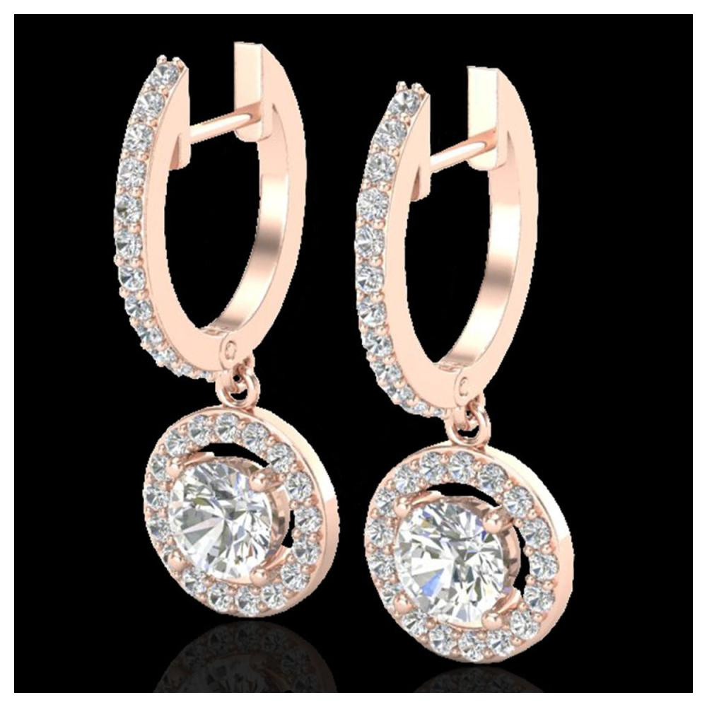 1.75 ctw Diamond Earrings 14K Rose Gold