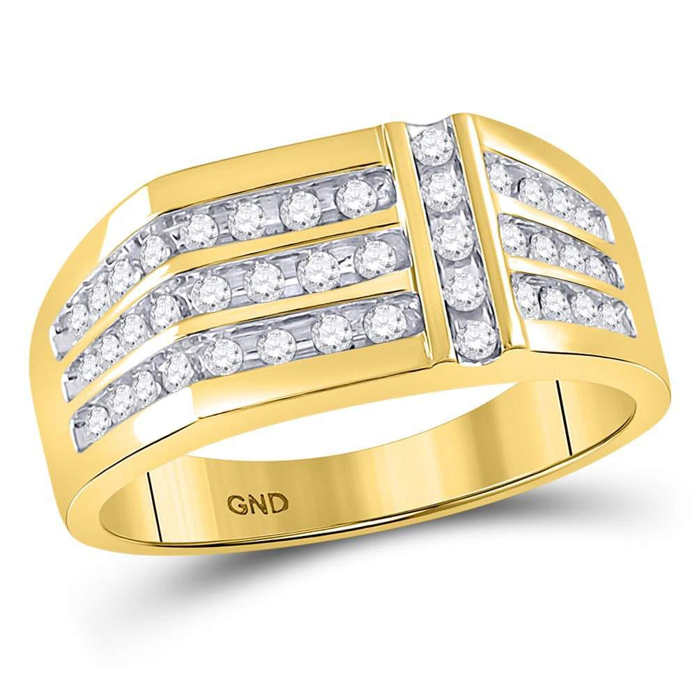 14K Yellow Gold Ring 0.55ctw Diamond