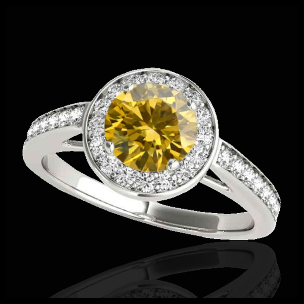 1.45 ctw SI/I Fancy Intense Yellow Diamond Ring 10K White Gold