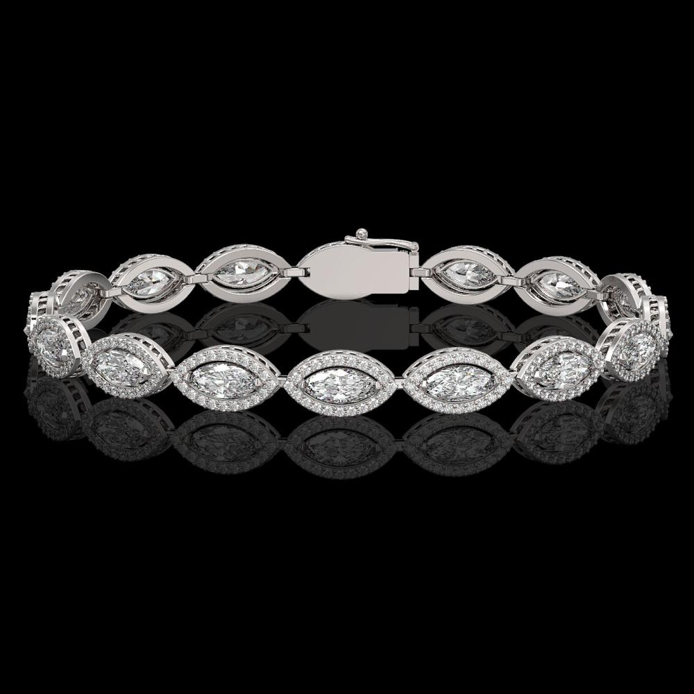 10.61 ctw Marquise Diamond Bracelet 18K White Gold