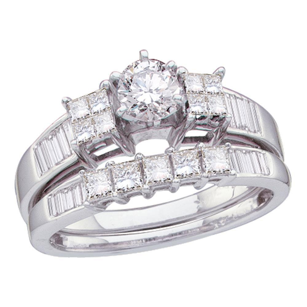 14K White Gold Ring 1ctw Diamond