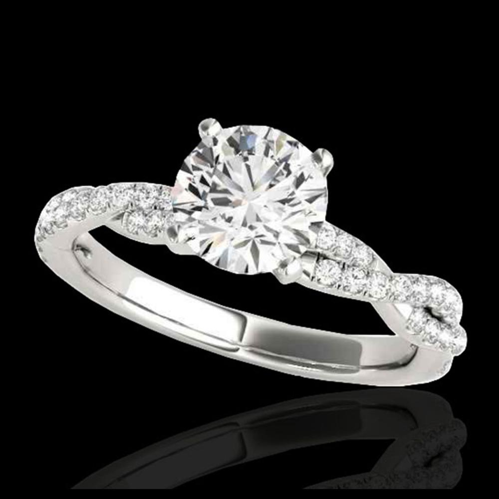 1.25 ctw H-SI/I Diamond Solitaire Ring 10K White Gold