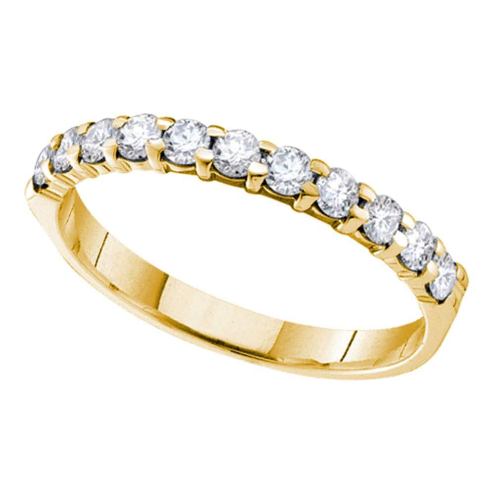 14K Yellow Gold Ring 0.1ctw Diamond