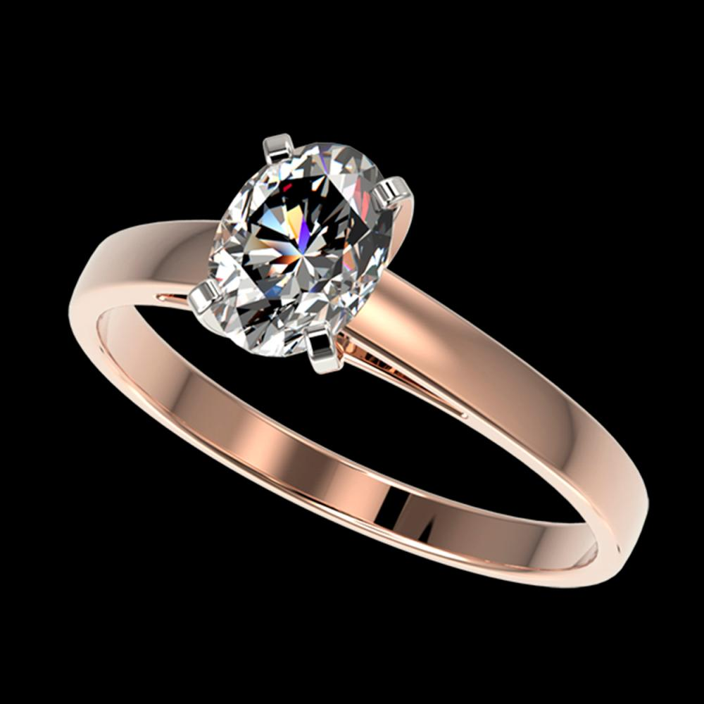 1 ctw Oval Diamond Solitaire Ring 10K Rose Gold