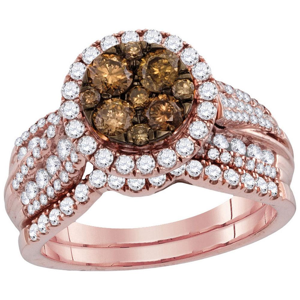 14K Rose Gold Ring 1.49ctw Brown Diamond, Diamond,