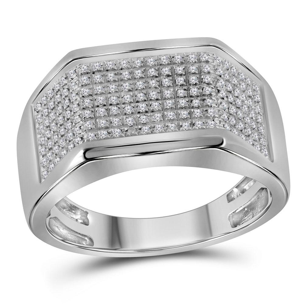 10K White Gold Ring 0.28ctw Diamond