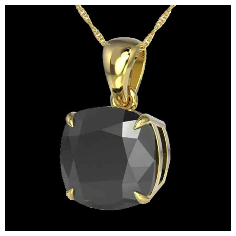 6 Cushion Black Diamond necklace 18K Yellow Gold