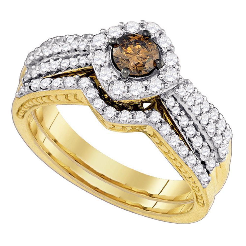 14K Yellow Gold Ring 1.15ctw Brown Diamond, Diamond,