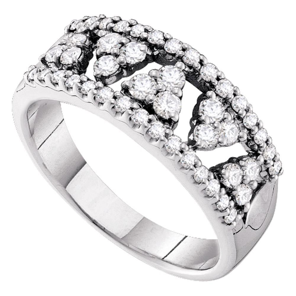 14K White Gold Ring 0.74ctw Diamond