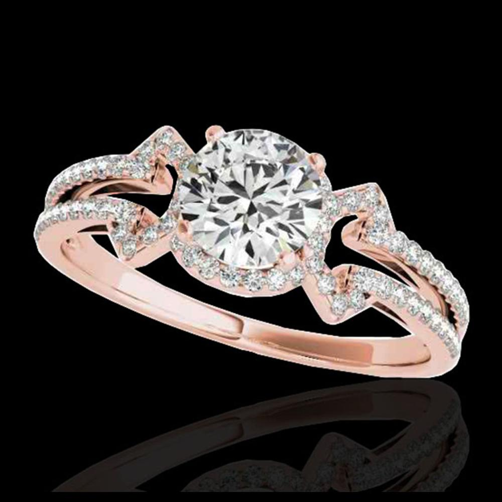1.36 ctw H-SI/I Diamond Solitaire Ring 10K Rose Gold