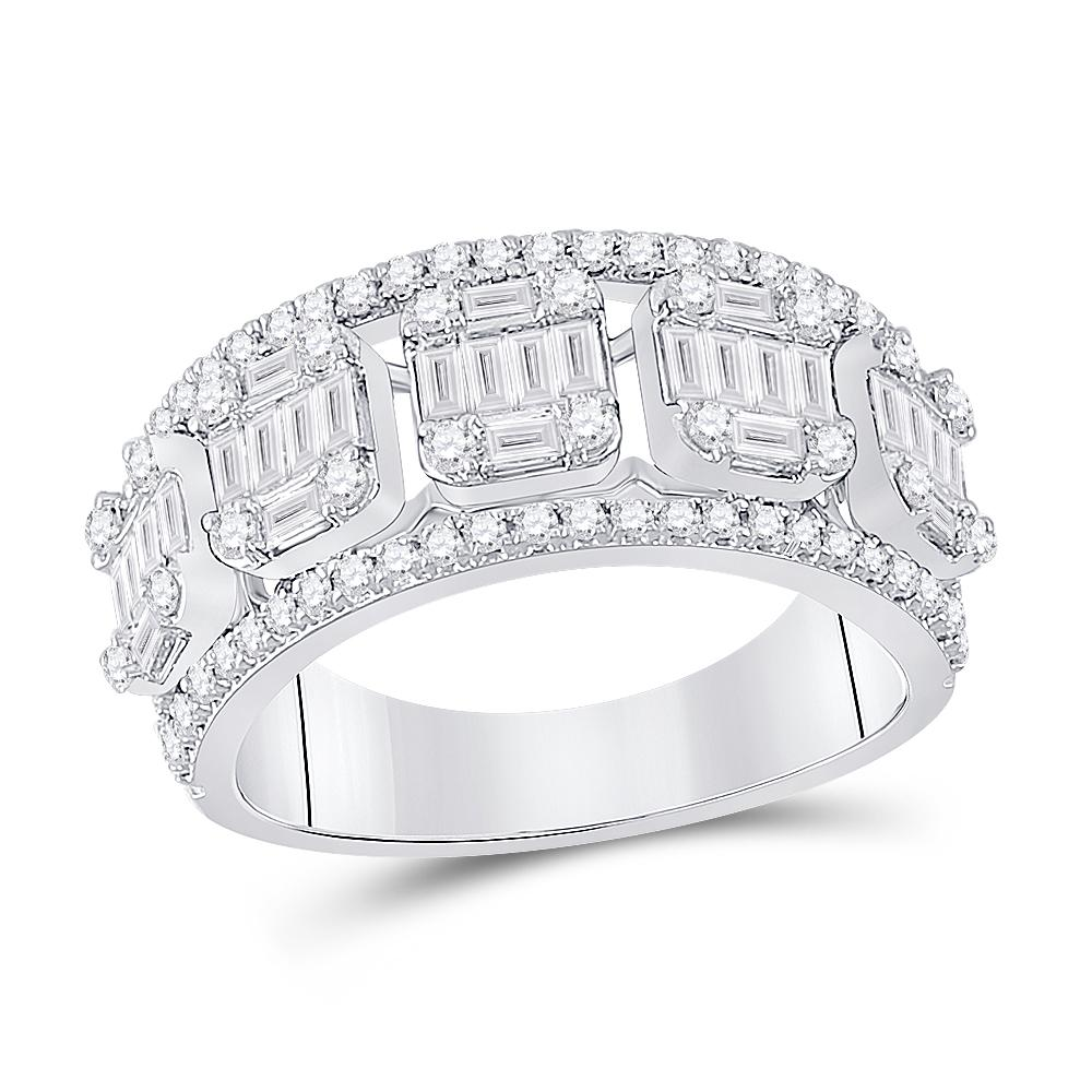 14K White Gold Ring 1.24ctw Diamond