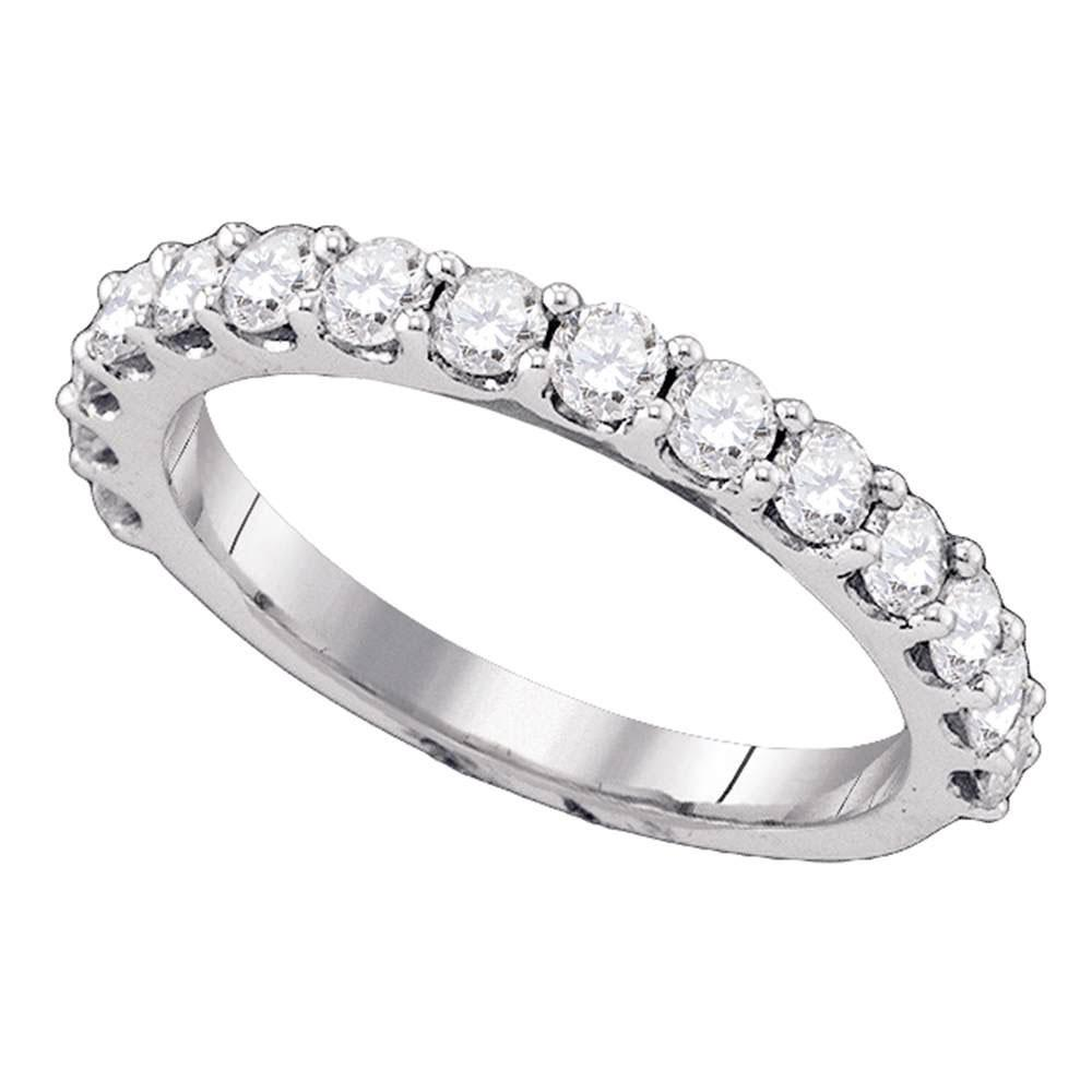 14K White Gold Ring Single Row 1ctw Diamond