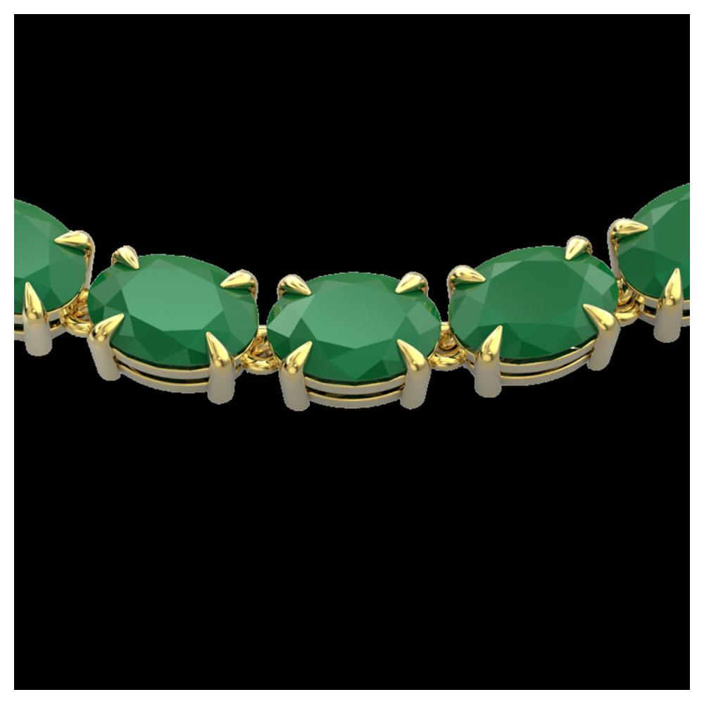 68 ctw Emerald Eternity Necklace 14K Yellow Gold
