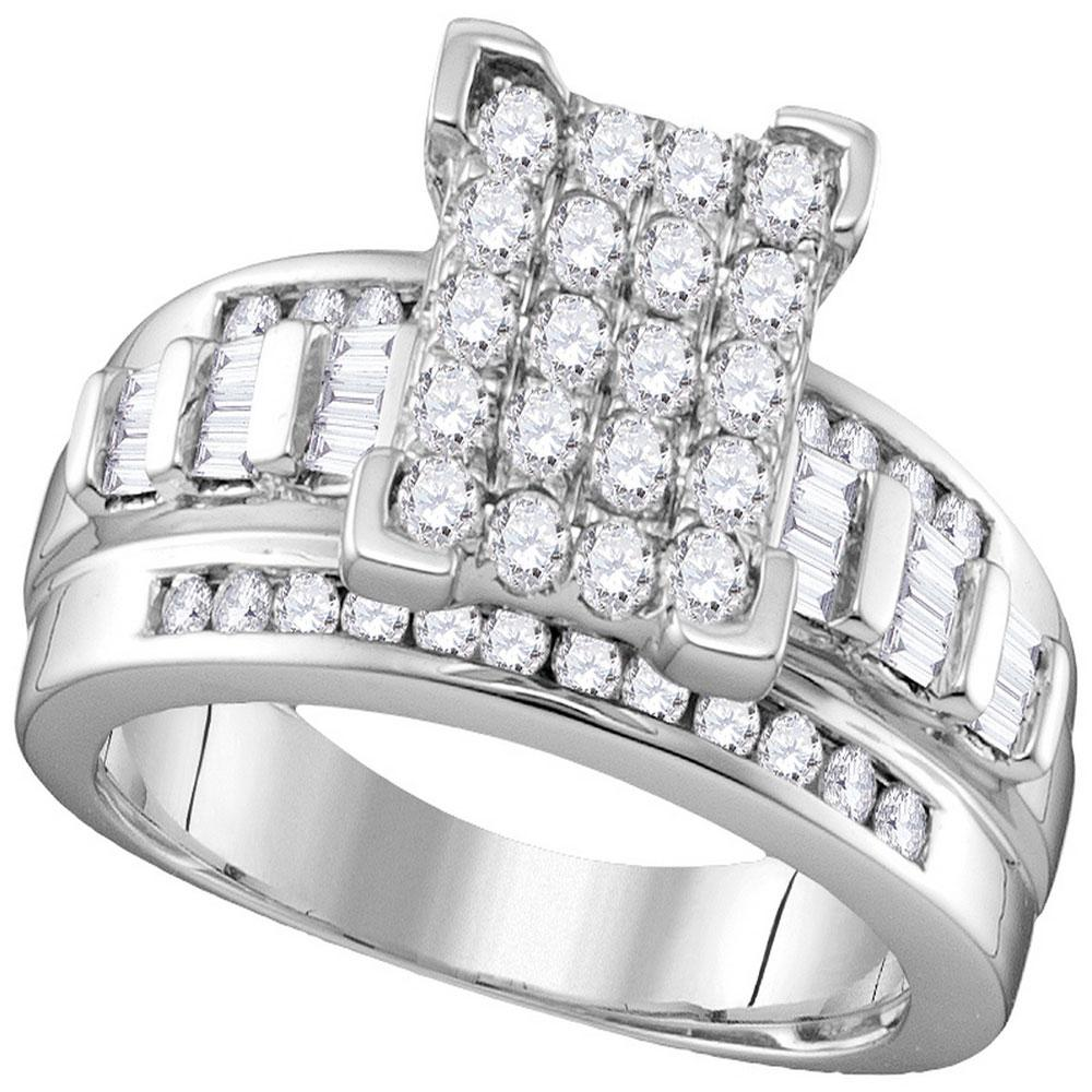 Diamond Cindy's Dream Cluster Bridal Wedding Engagement Ring 10k White Gold