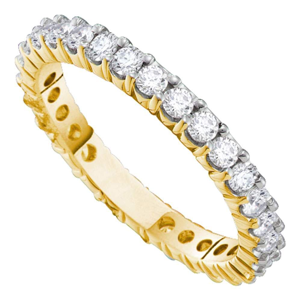 Pave-Set 14kt Yellow Gold