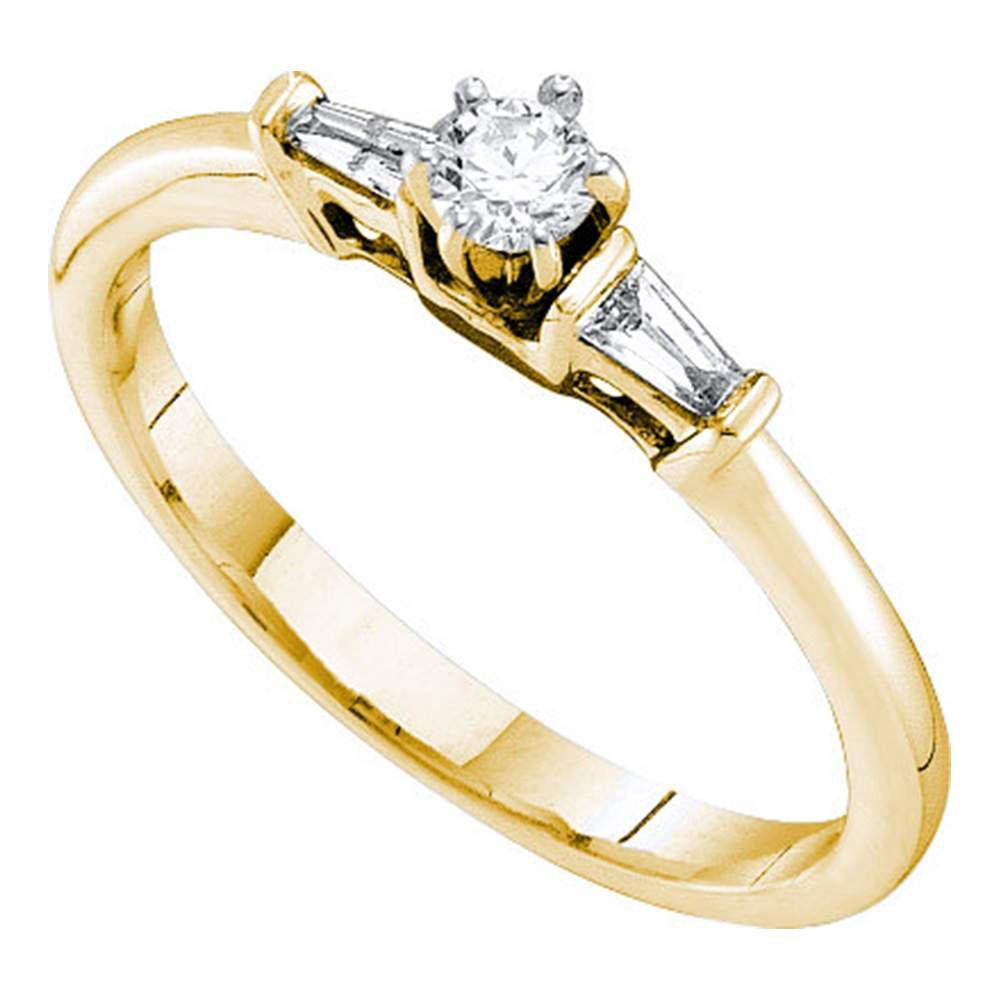Diamond Solitaire Bridal Wedding Engagement Ring 14kt Yellow Gold