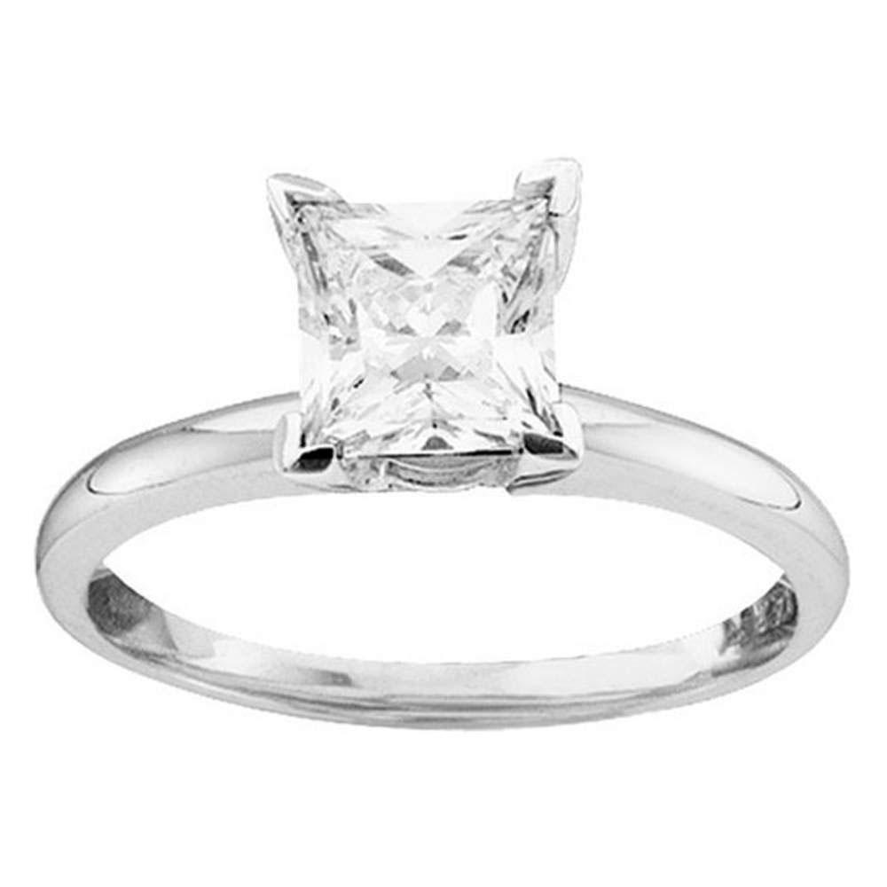 Princess Diamond Solitaire Bridal Wedding Engagement Ring 14kt White Gold