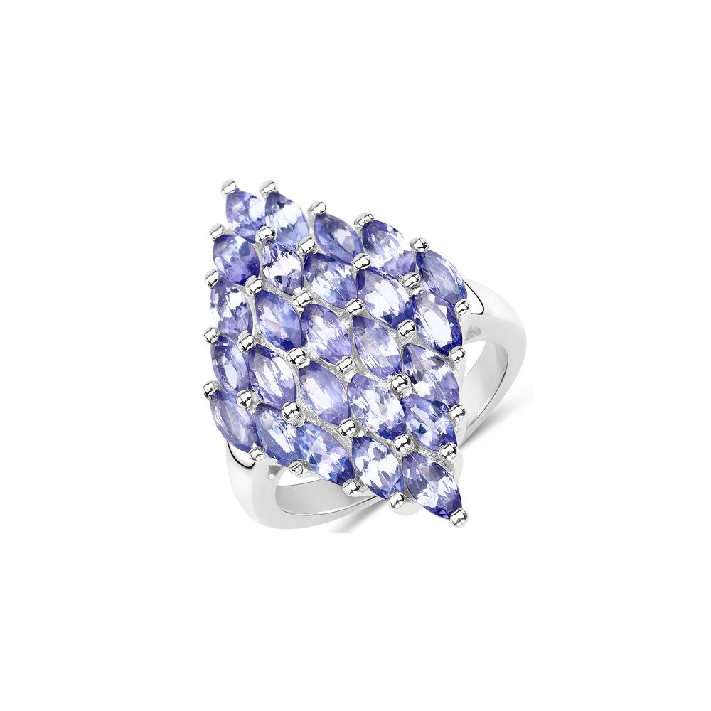 3.50 CTW Genuine Tanzanite .925 Sterling Silver Ring