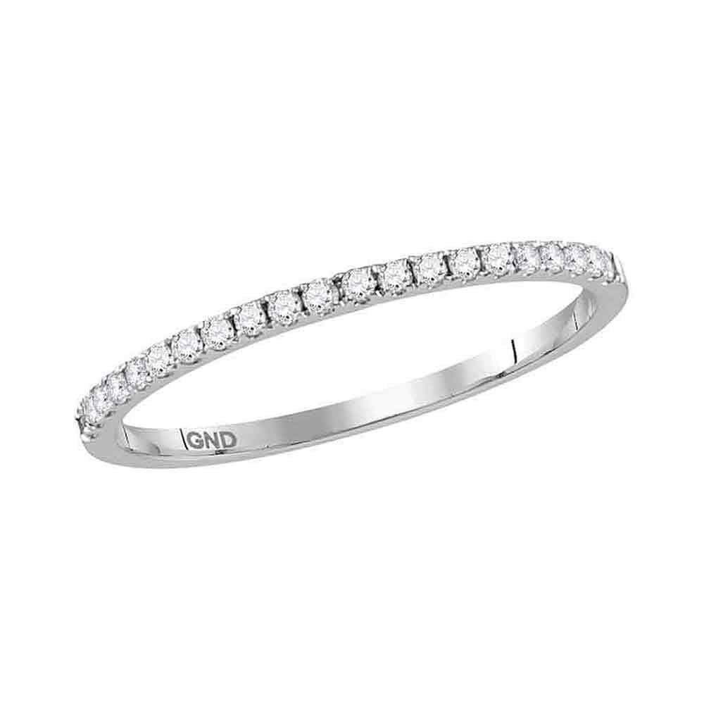 Lot 3016: Diamond Slender Stackable Band 14kt White Gold