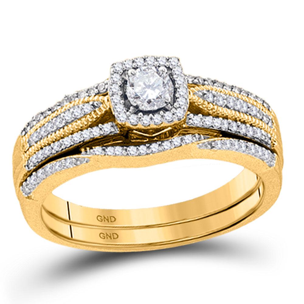Diamond Bridal Wedding Engagement Ring 10k Yellow Gold