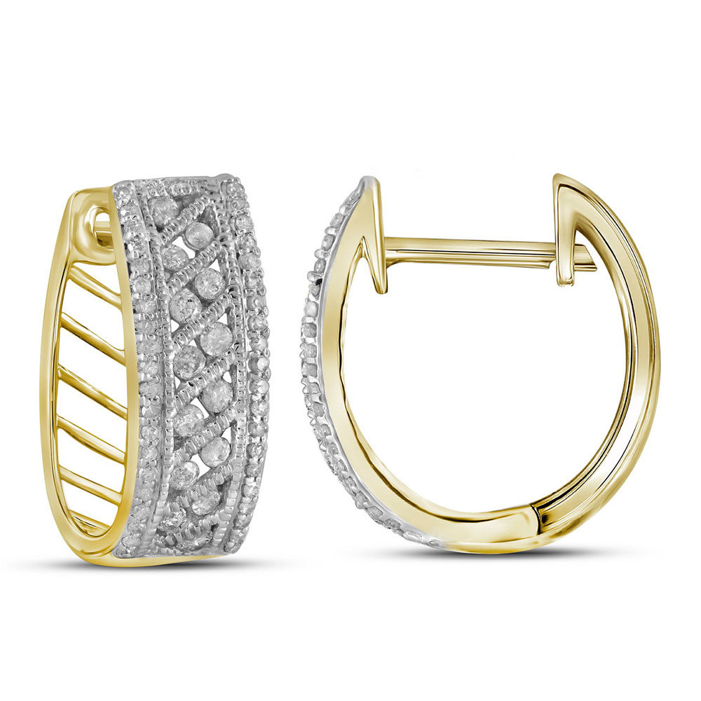 Channel-Set 10kt Yellow Gold